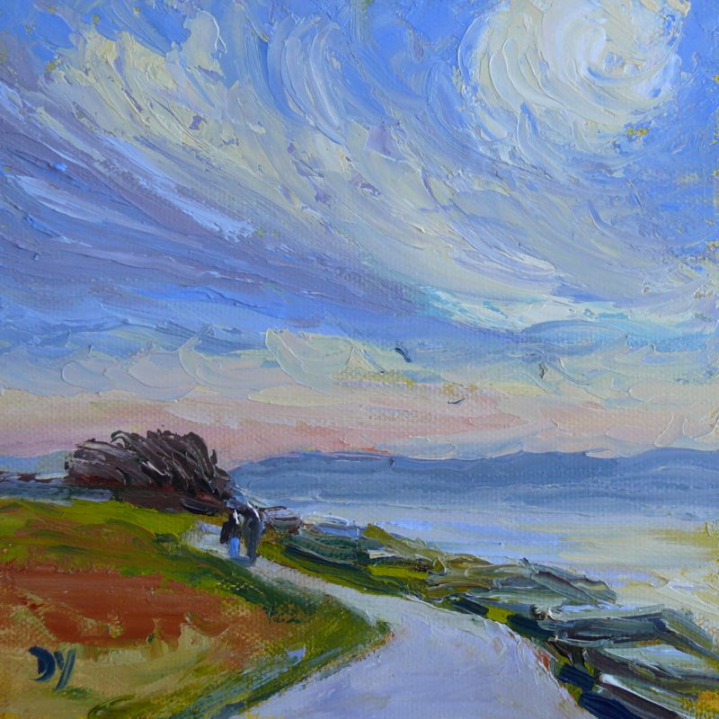 """Holland Point (Knife Painting), oil on board, 6x6"" original fine art by Darlene Young"