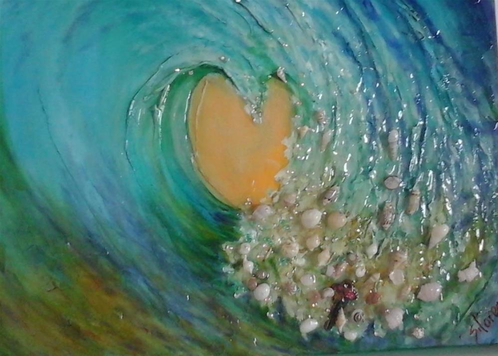 """Britney's Wave of Prosperity"" original fine art by Sue Lorenz"