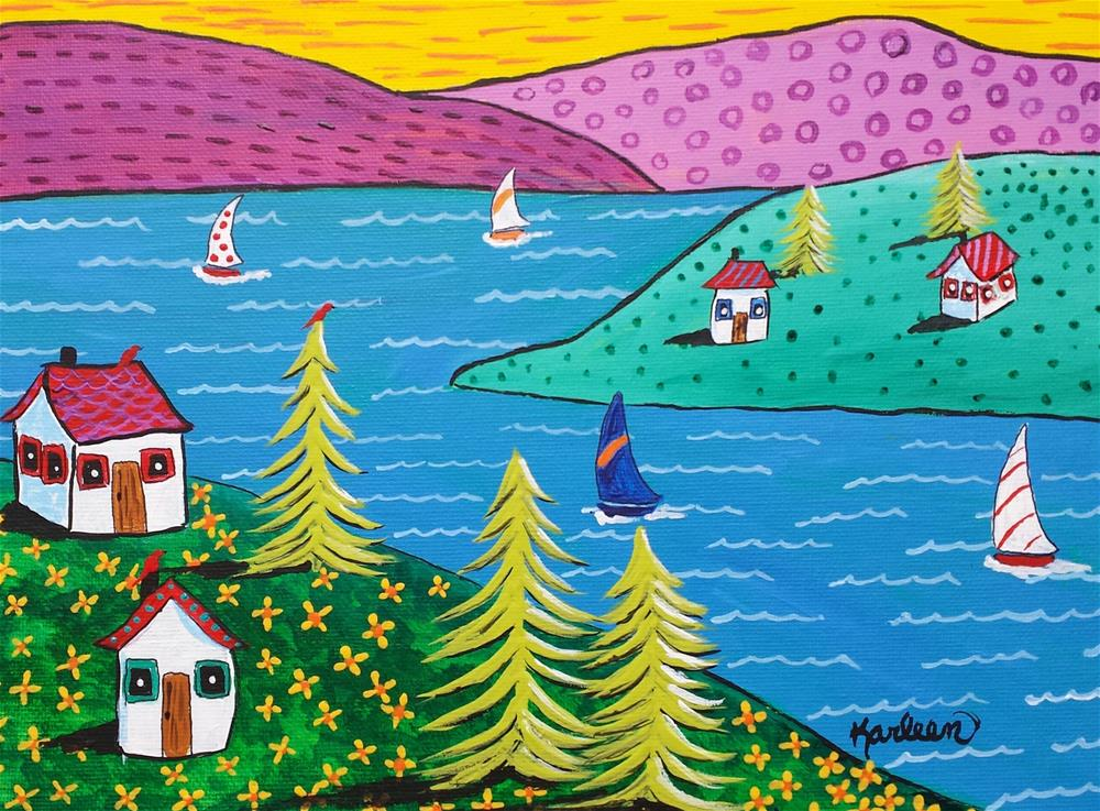 """Peaceful Mountain Living"" original fine art by Karleen Kareem"