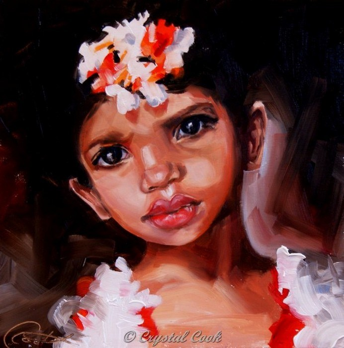 """""""Bloom of Youth"""" original fine art by Crystal Cook"""