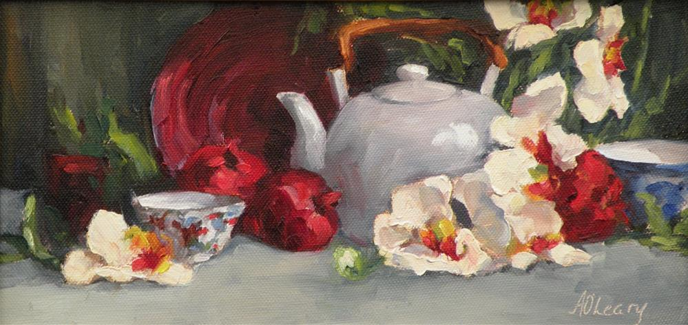 """Orchid Tea"" original fine art by Alice O'Leary"