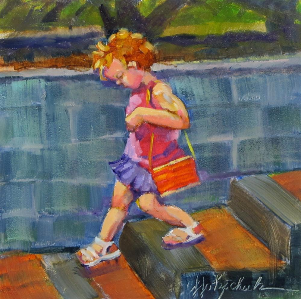 """""""Going Shopping"""" original fine art by Christine Holzschuh"""