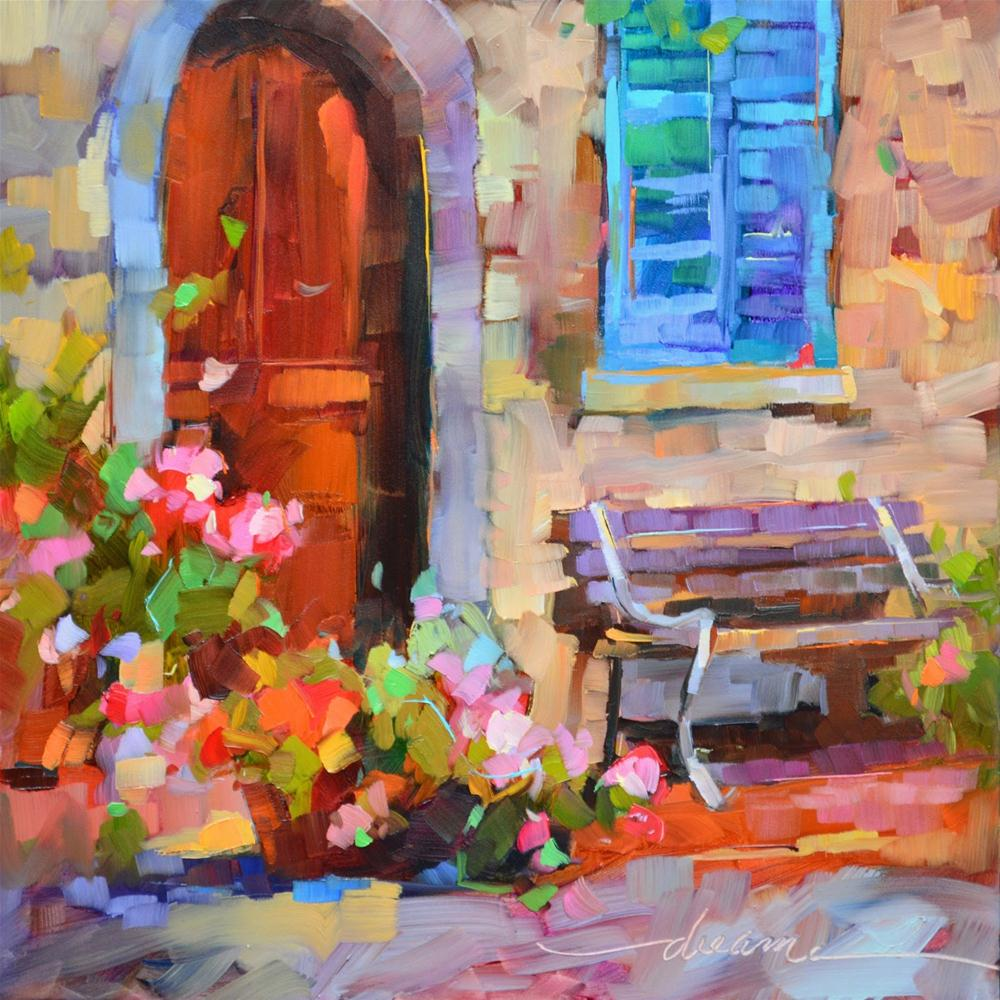 """""""Tuscany Outside My Door"""" original fine art by Dreama Tolle Perry"""