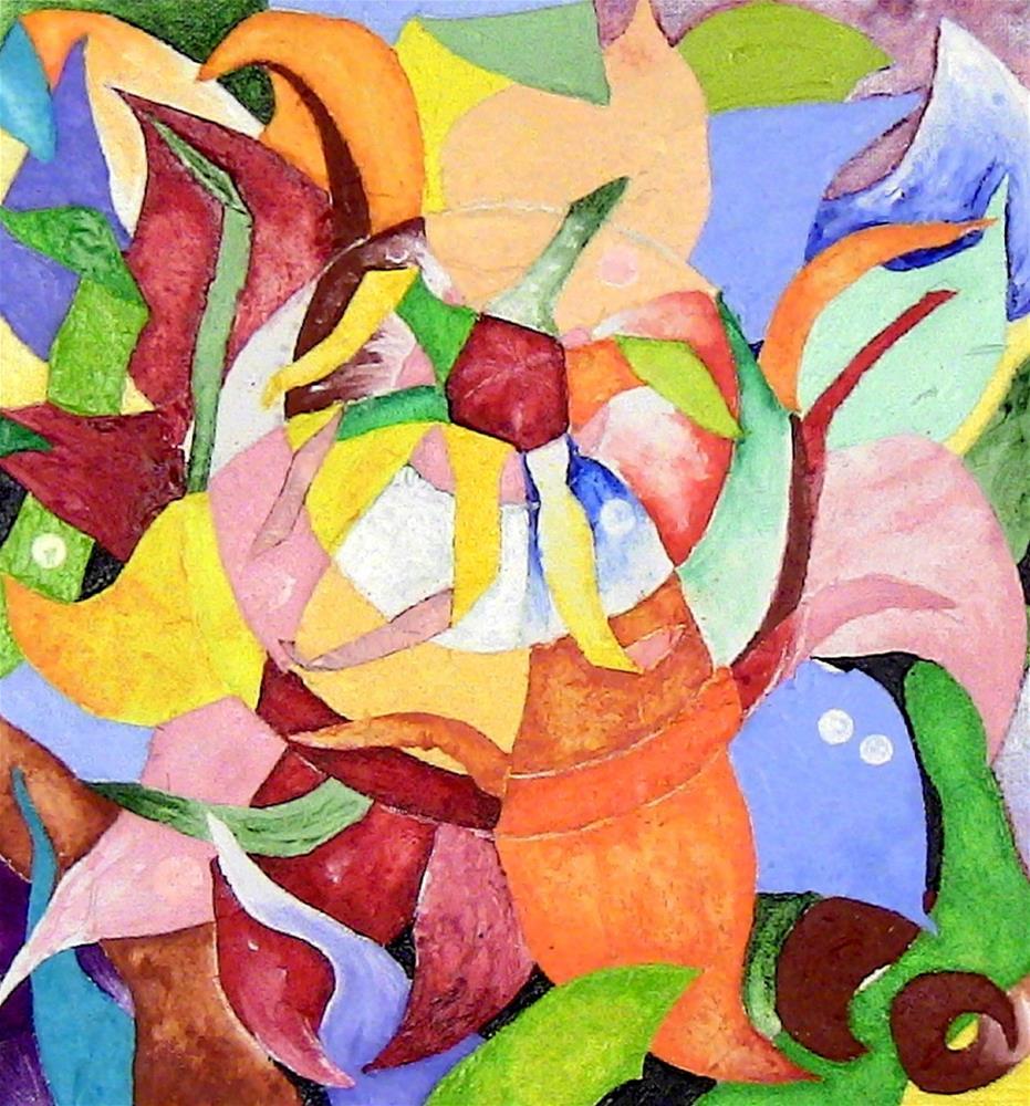 """""""Flower Blooming"""" original fine art by Lisa Fulton"""