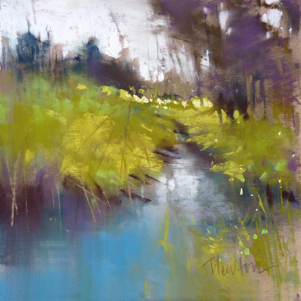 """Spring Creek ATTIC GALLERY CAMAS WA"" original fine art by Barbara Benedetti Newton"