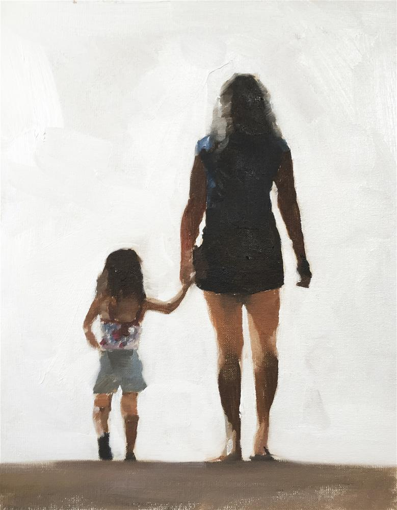"""""""Mother and Daughter"""" original fine art by James Coates"""