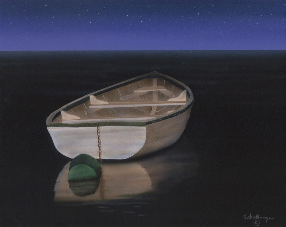 """Midnight Reflections"" original fine art by Fred Schollmeyer"