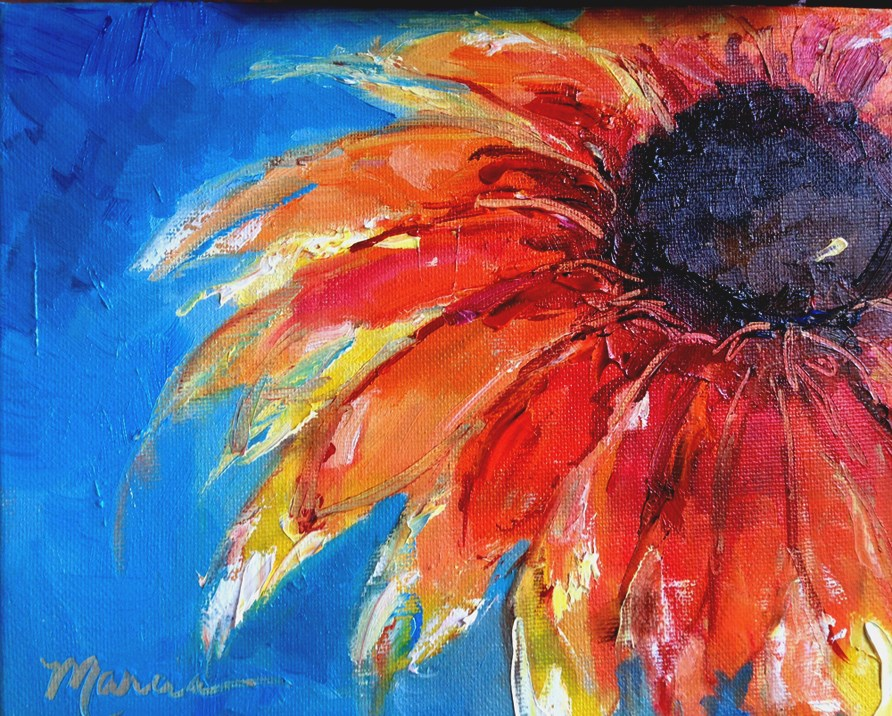 """This Girl is On Fire"" original fine art by Marcia Hodges"