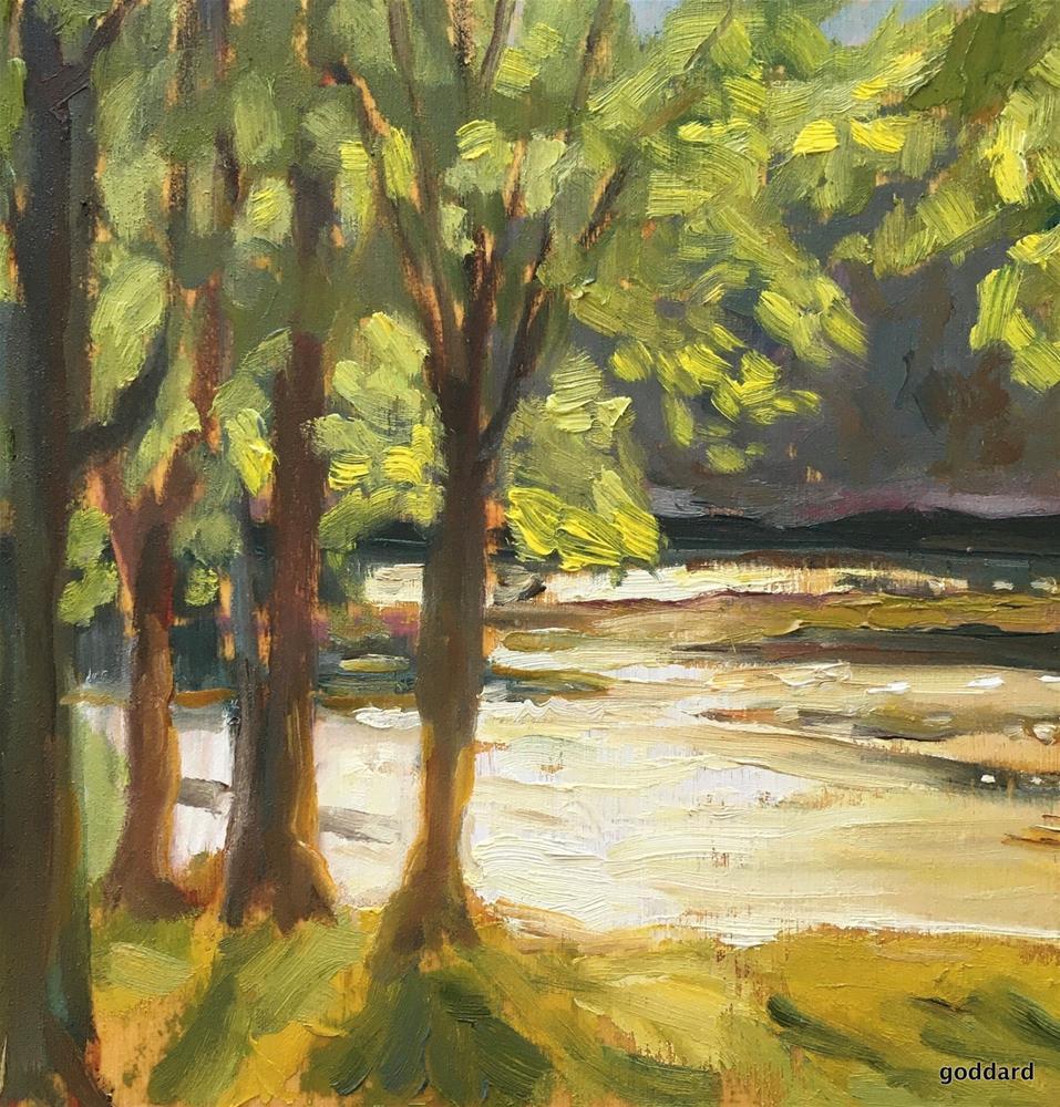 """Water's Edge Georgetown"" original fine art by Shari Goddard Shambaugh"