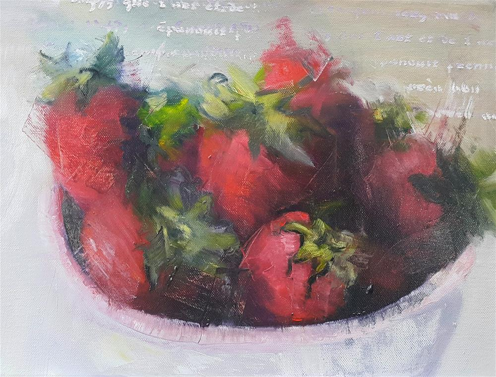 """Berry red"" original fine art by Rentia Coetzee"