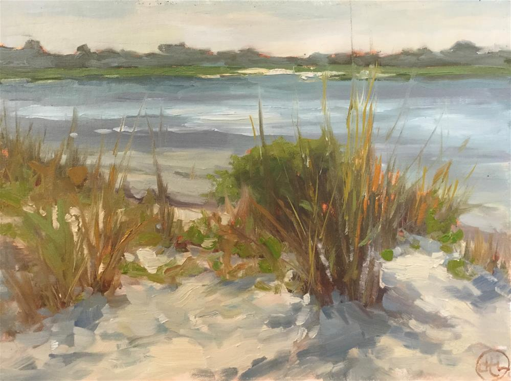 """""""feet in the sand"""" original fine art by Dottie  T  Leatherwood"""