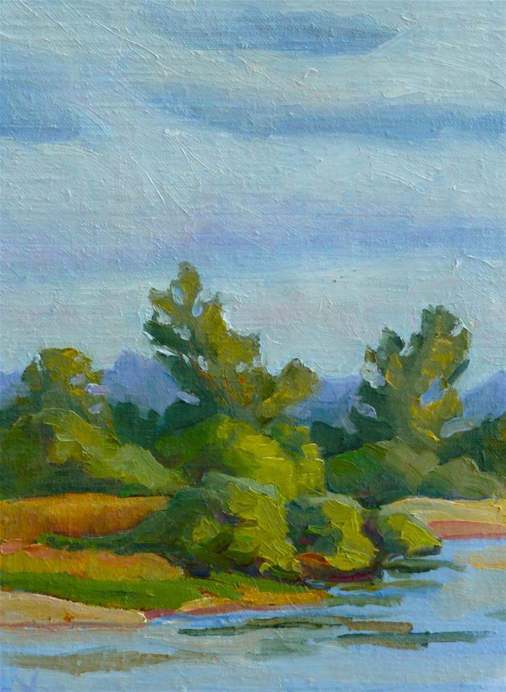 """Leaning Trees"" original fine art by Mark Allison"