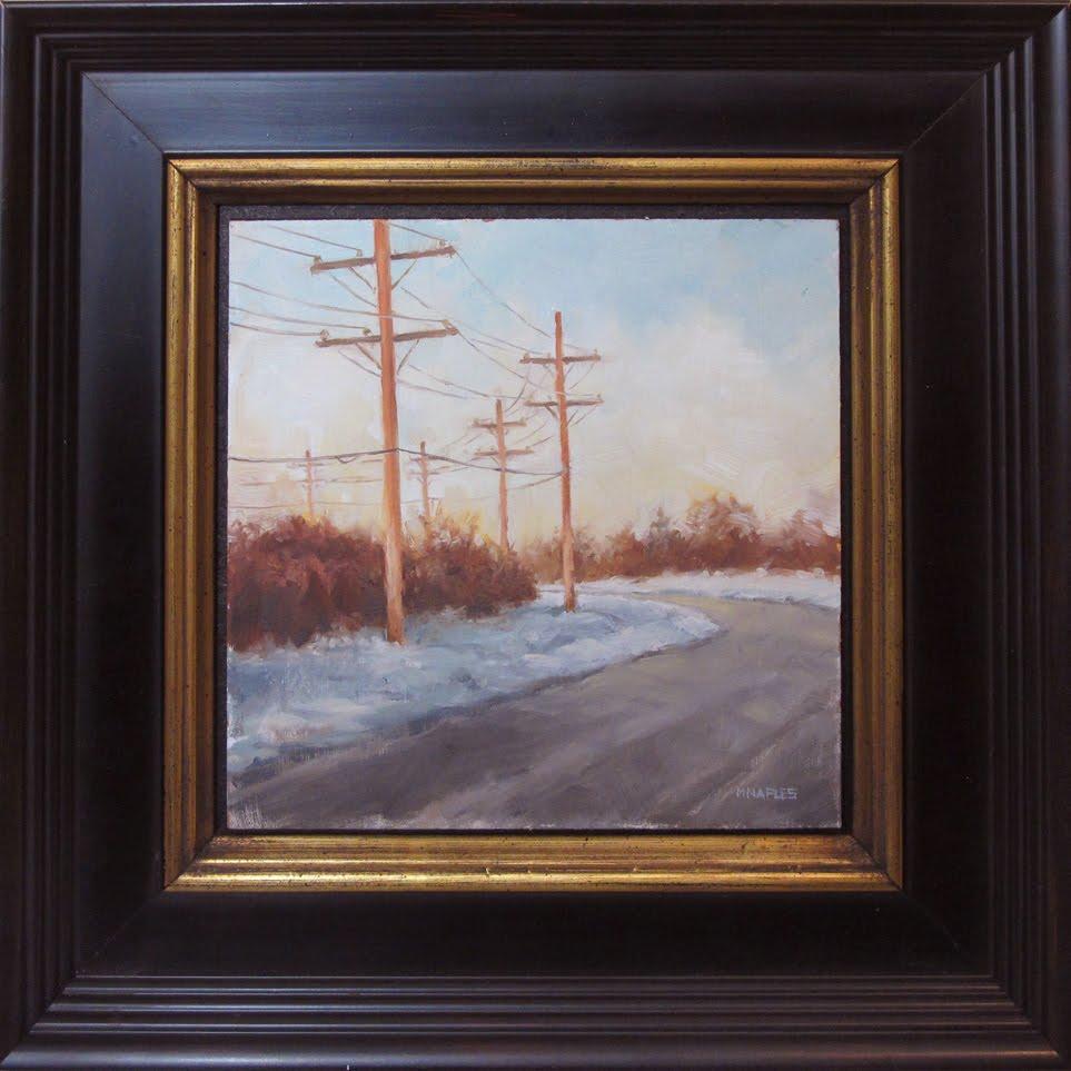 """Scenic Route (framed)"" original fine art by Michael Naples"