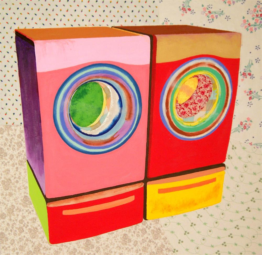 """""""Washer and Dryer"""" original fine art by Lisa Fulton"""