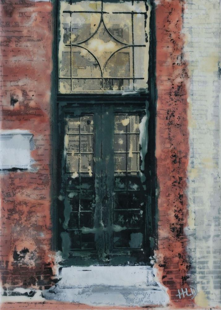 """""""Back Bay Doorway"""" original fine art by Heather Douglas"""