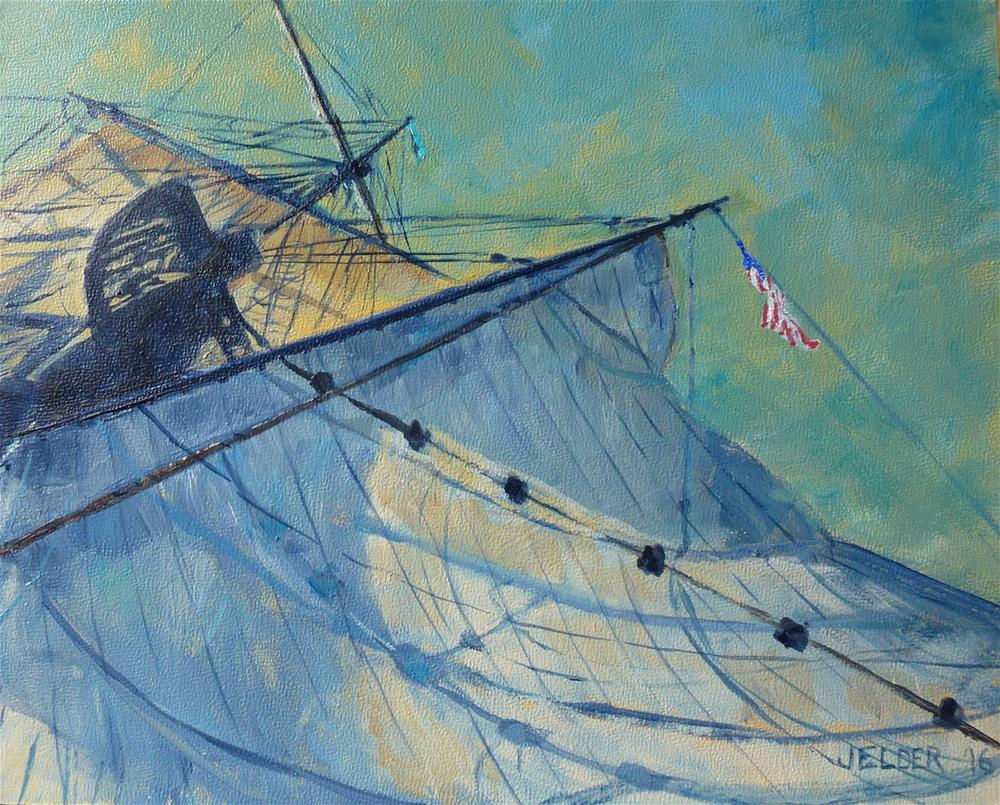"""Lady Washington No. 2"" original fine art by Judith Elder"
