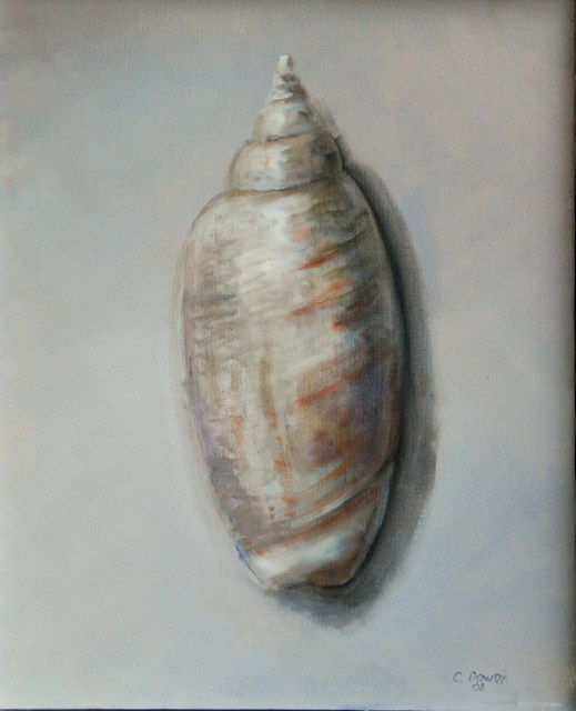 """Olive Shell 2"" original fine art by Christina Dowdy"