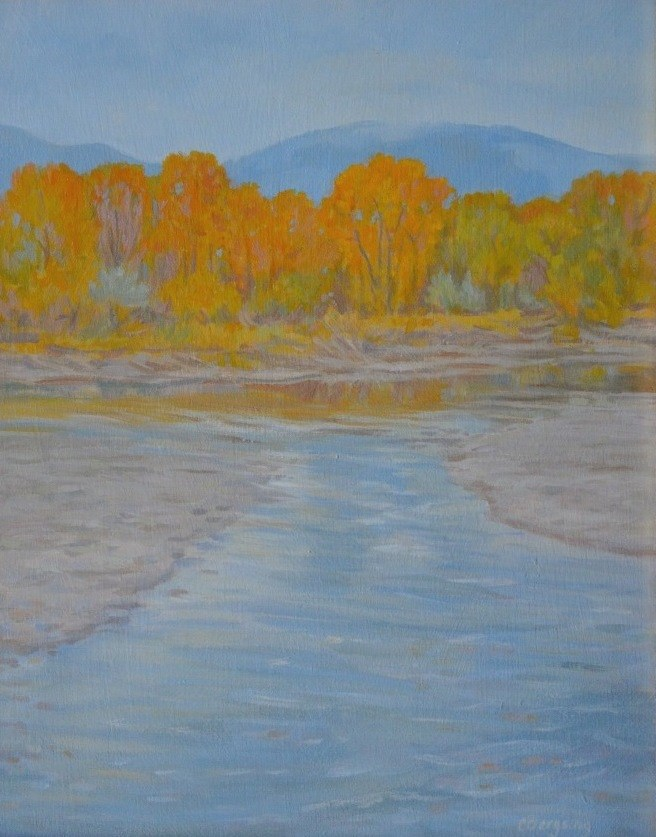 """Autumn Flow"" original fine art by Cathy Bergsing"