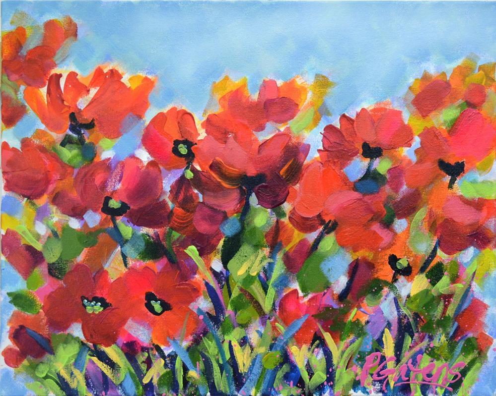 """""""Poppy Patch"""" original fine art by Pamela Gatens"""