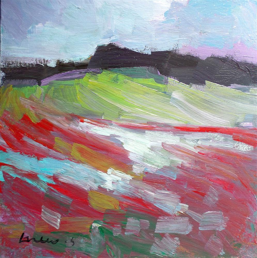 """red field"" original fine art by salvatore greco"