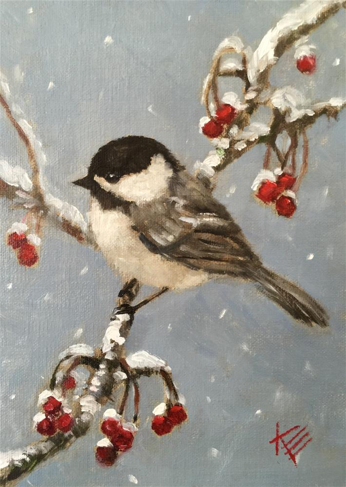 """""""On a cold and frosty morning"""" original fine art by Krista Eaton"""
