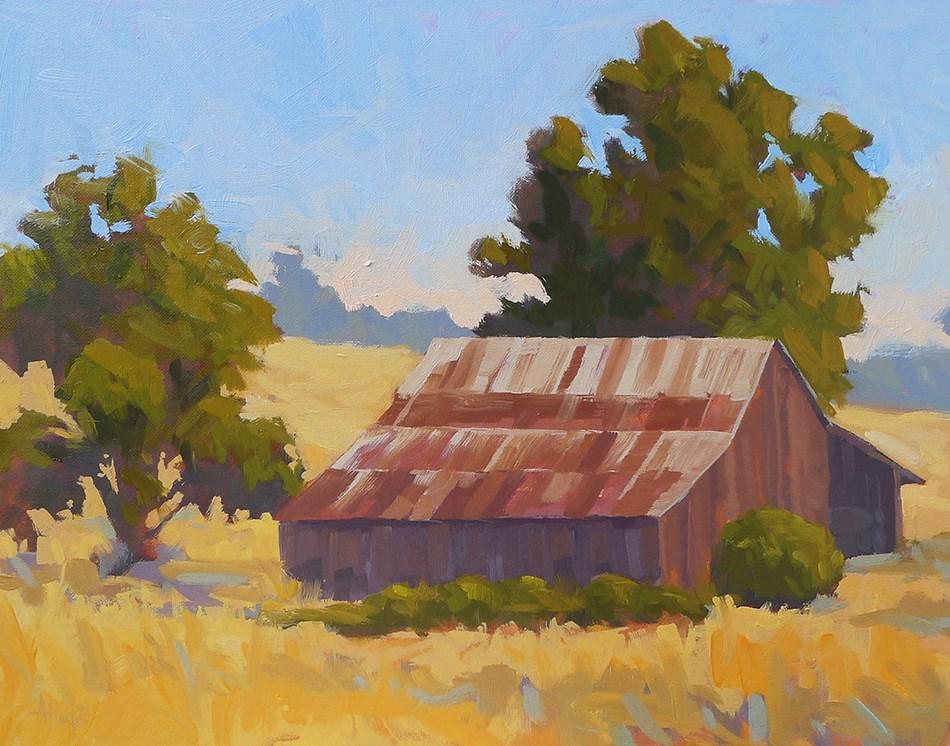 """Deer Creek Barn"" original fine art by Adam Houston"