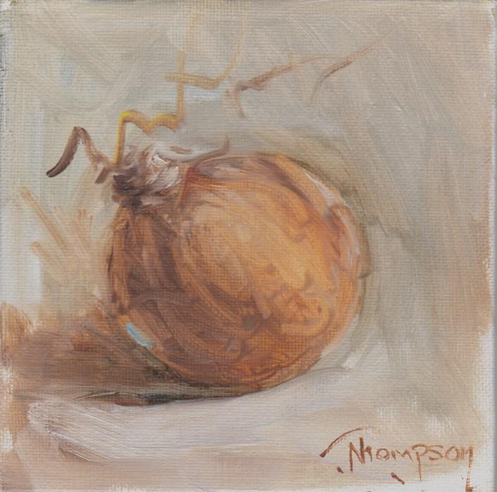 """White Onion"" original fine art by Norma Thompson"