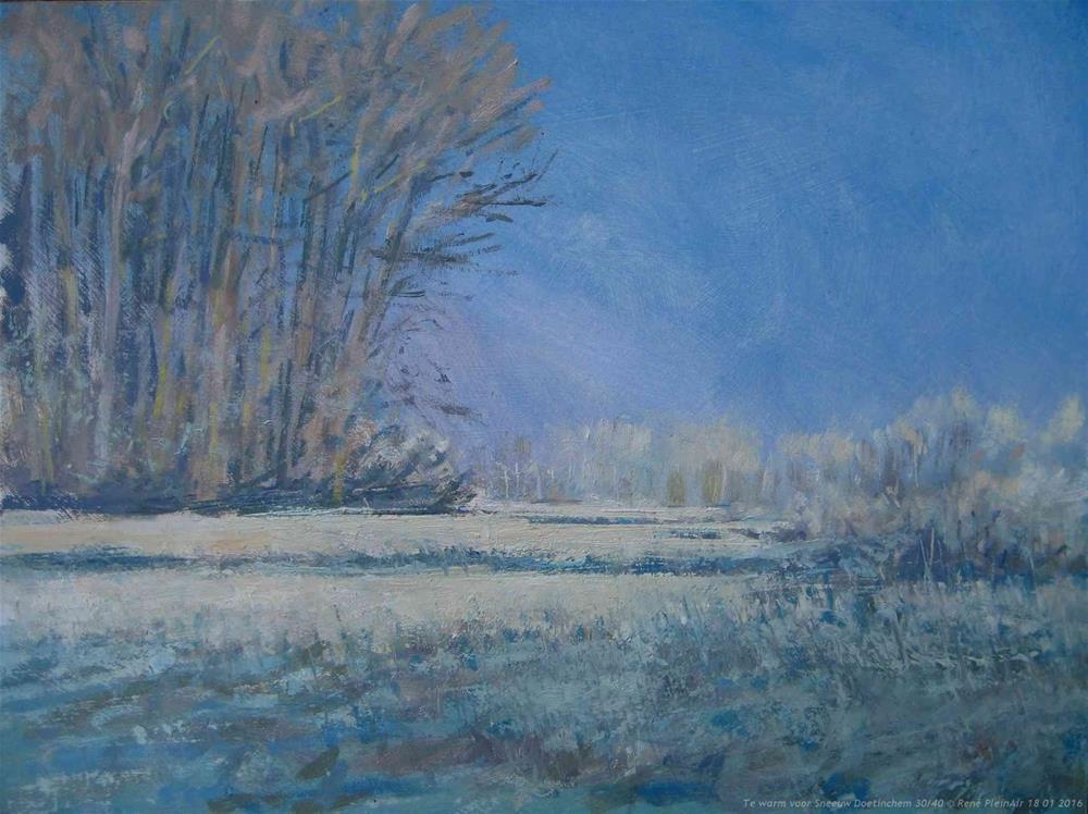 """Too hot for snow. Doetinchem, the Netherlands."" original fine art by René PleinAir"