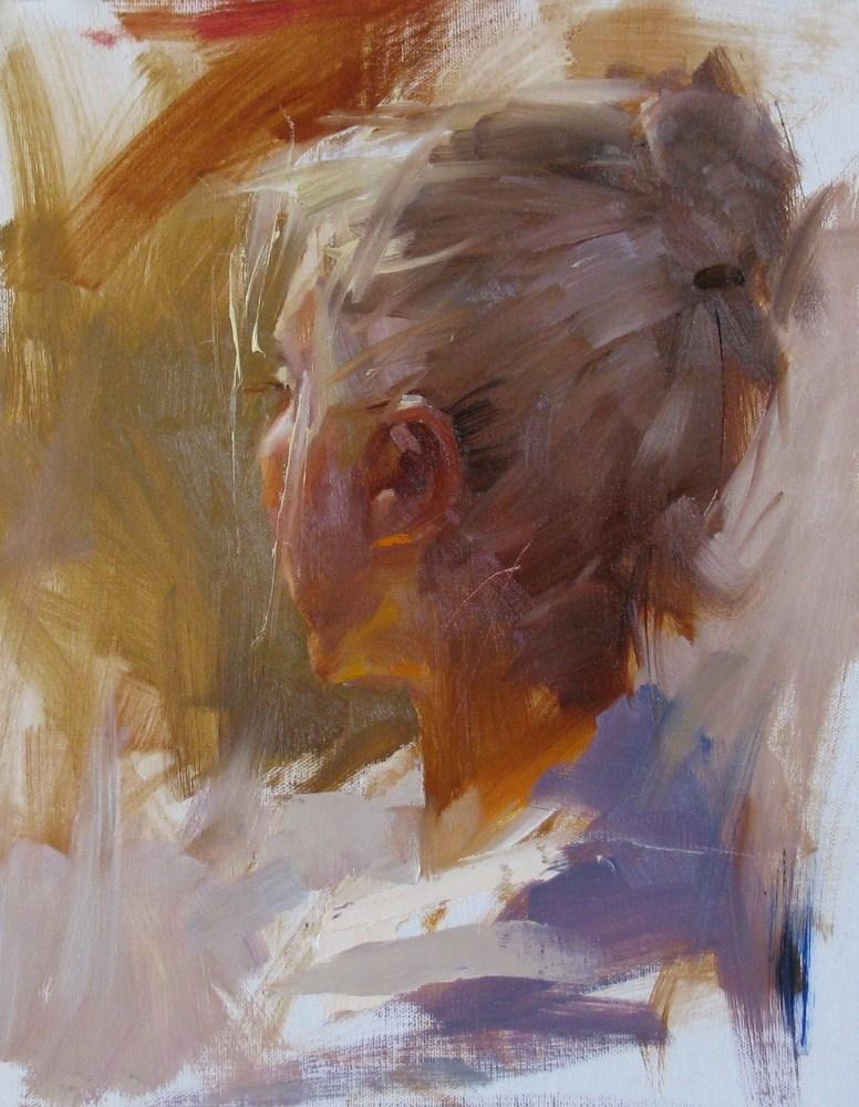"""Head Study 052012"" original fine art by Qiang Huang"
