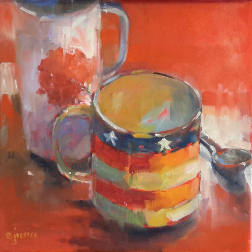 """Listening Cup"" original fine art by Rebecca Justice-Schaab"