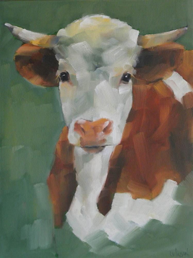 """""""Sutter Creek Cow"""" original fine art by Cheryl Wilson"""