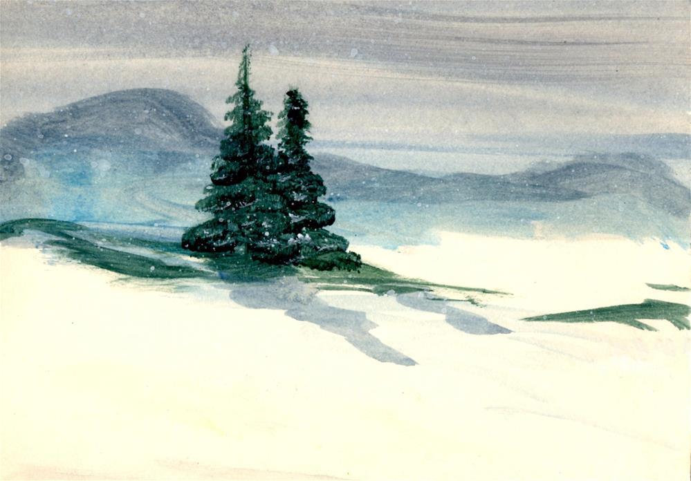 """Two Pines "" original fine art by Susan Duda"