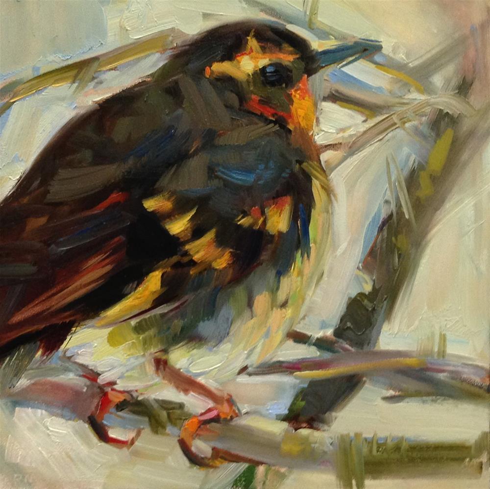 """""""Bit O'Blue"""" original fine art by Patti McNutt"""