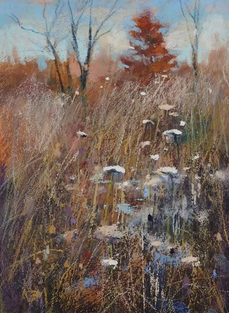 """Mini Pastel Demo: Light on a Meadow"" original fine art by Karen Margulis"