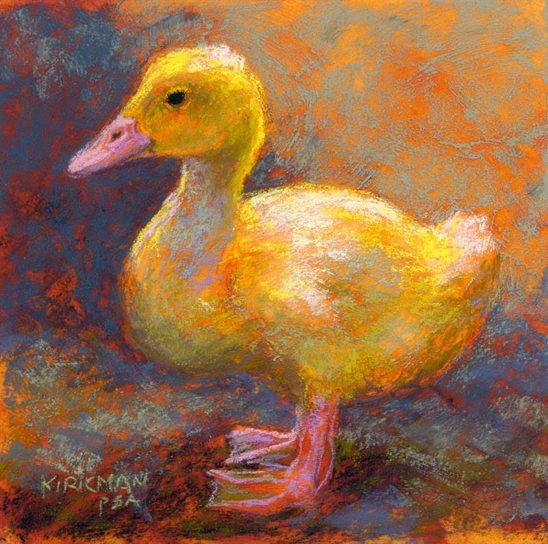 """Yellow Duckling"" original fine art by Rita Kirkman"