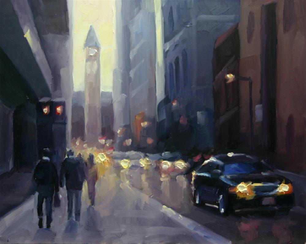 """Late Afternoon Shadows, Bay Street"" original fine art by Catherine Jeffrey"