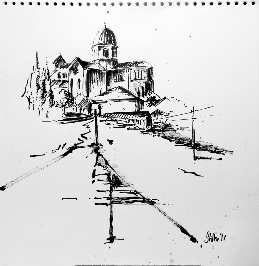 """2102 Duomo Montegrotto"" original fine art by Dietmar Stiller"