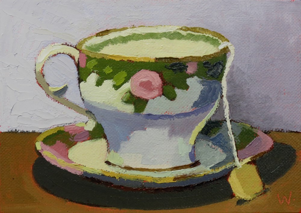 """Tea Time"" original fine art by Joan Wiberg"