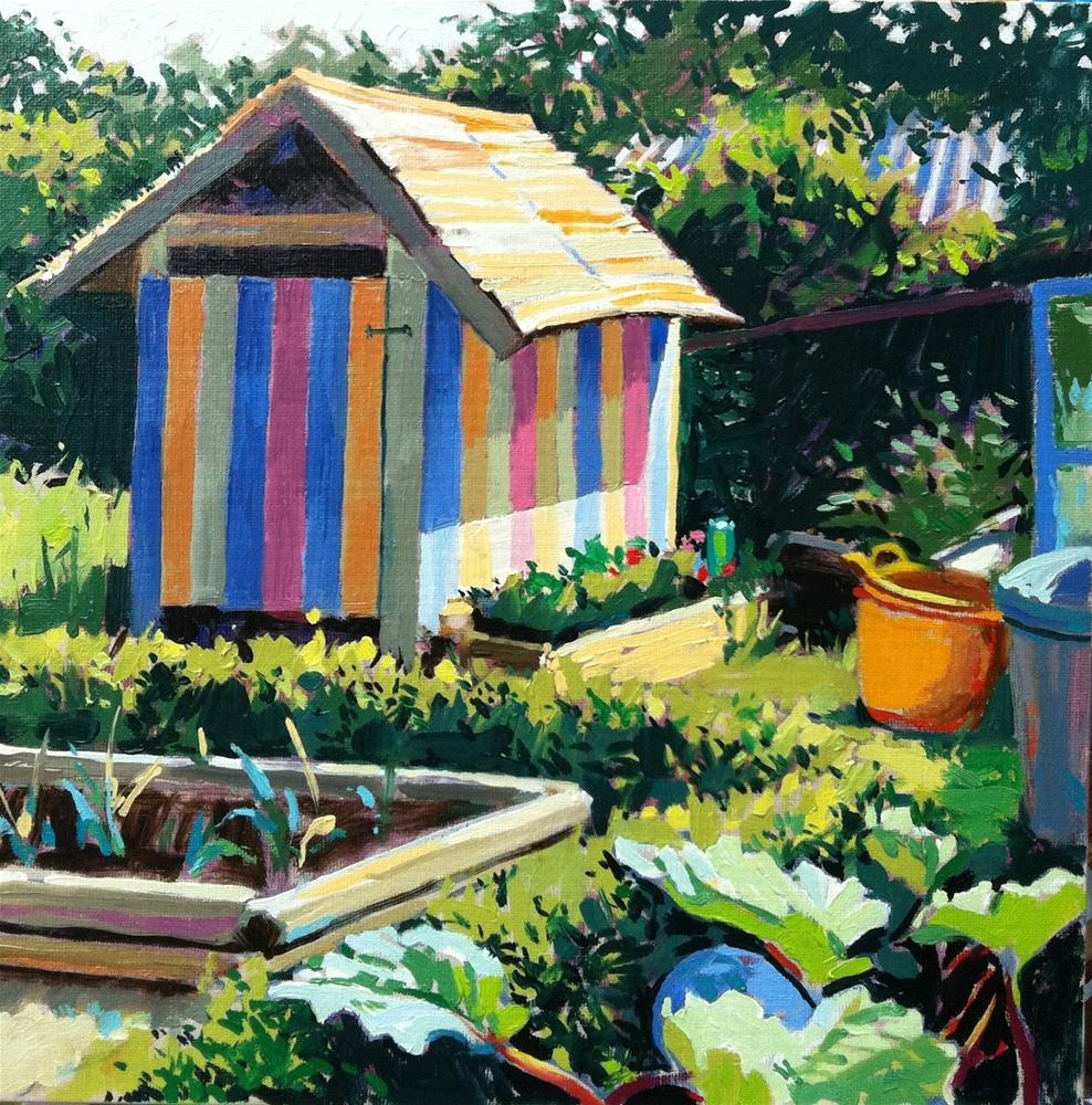 """""""Ice cream shed"""" original fine art by Haidee-Jo Summers ROI"""