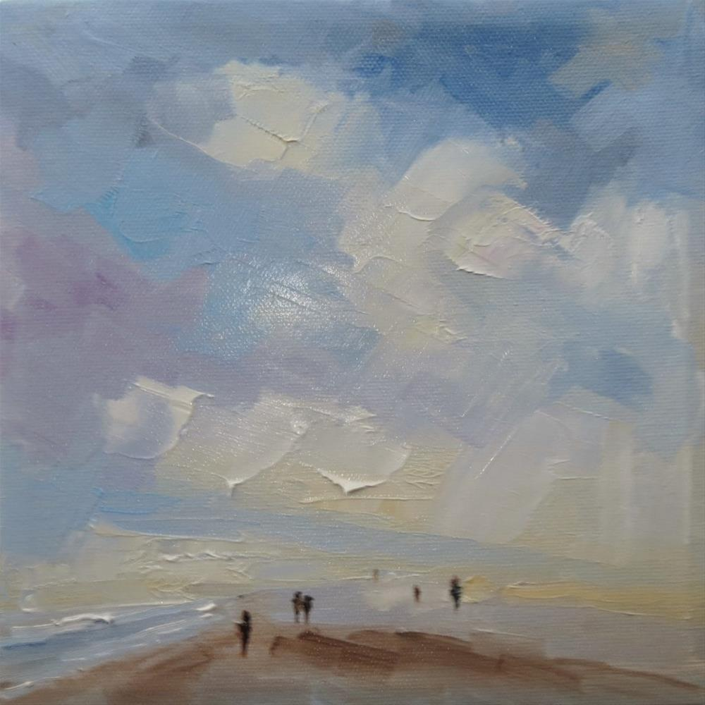 """Seascape(along the beach)"" original fine art by Astrid Buchhammer"