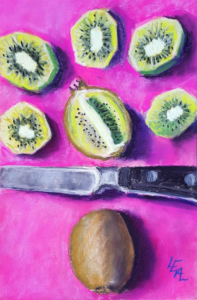 """Kiwi on Strawberry"" original fine art by Anna Lisa Leal"