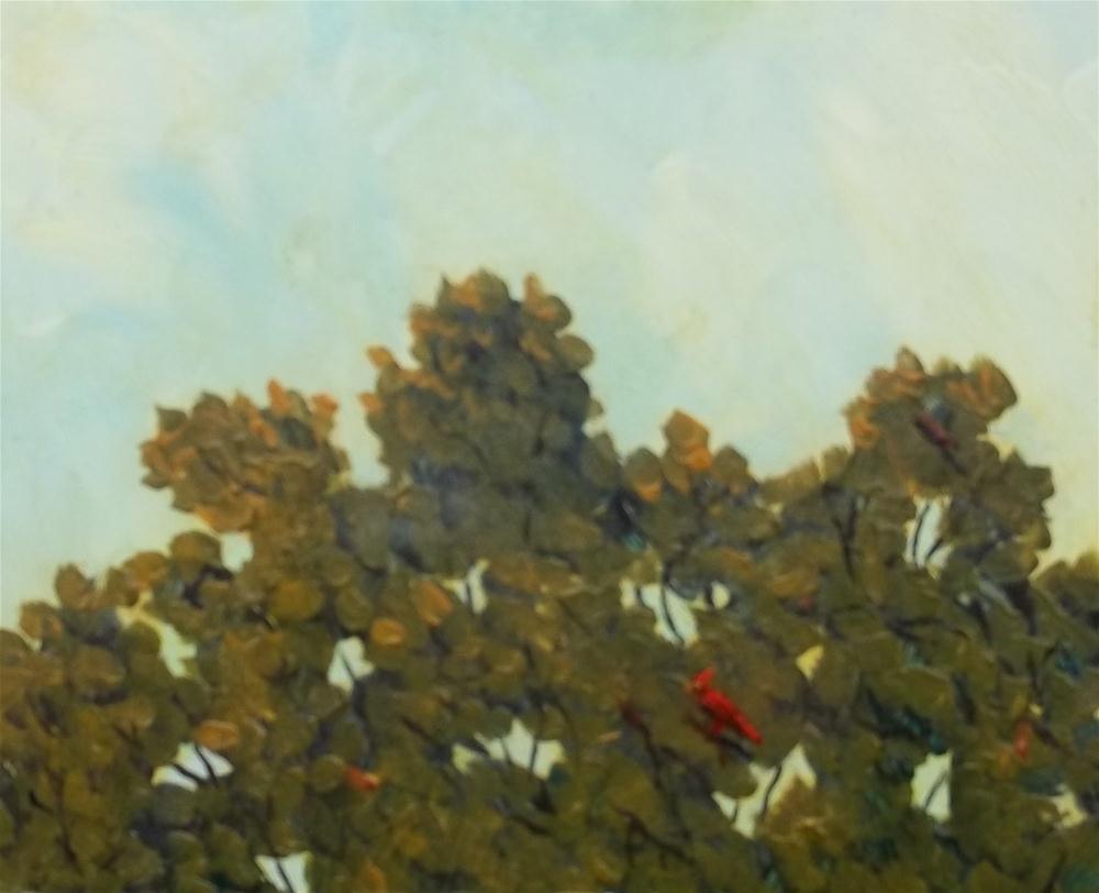 """The Cardinal"" original fine art by William W. Hoyt"