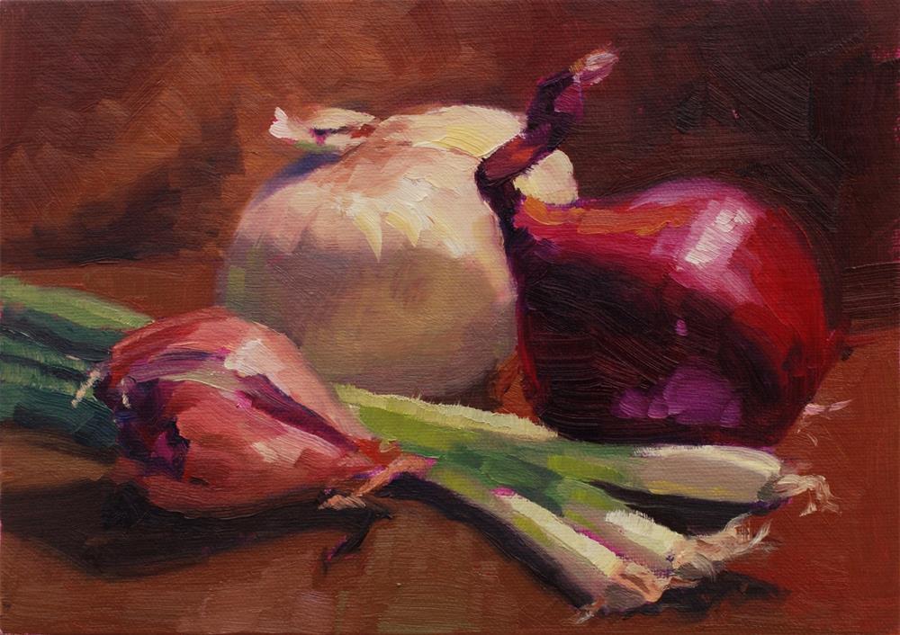 """The Allium Collection No. 2"" original fine art by Susan McManamen"
