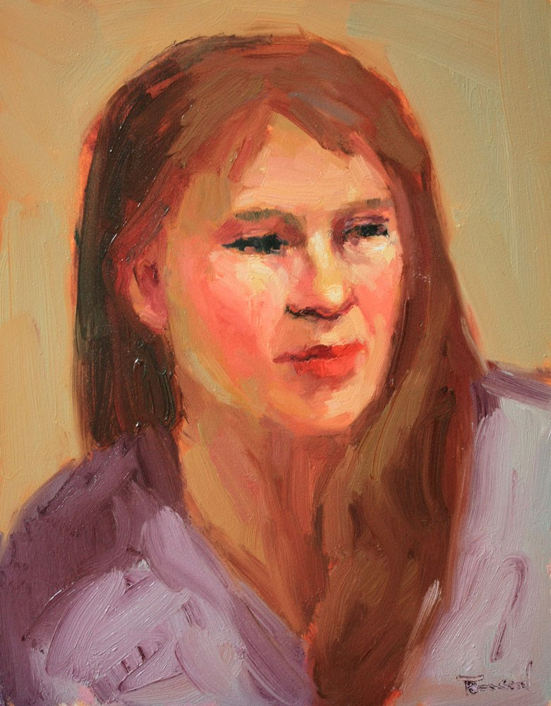 """Portrait Study #29"" original fine art by Kathryn Townsend"