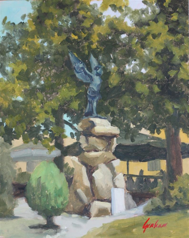 """""""Outside the Casa Paolina, Lucca"""" original fine art by Graham Townsend"""