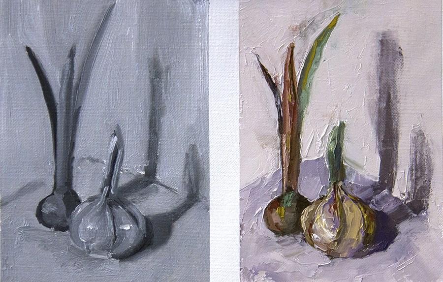 """""""Onions?"""" original fine art by Daryl Lyn King"""