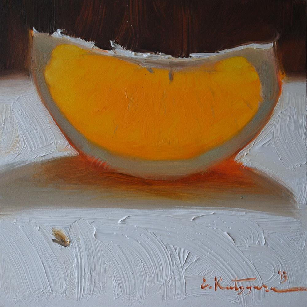 """Slice of Citrus"" original fine art by Elena Katsyura"