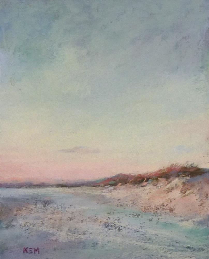 """Morning Beach Walk"" original fine art by Karen Margulis"