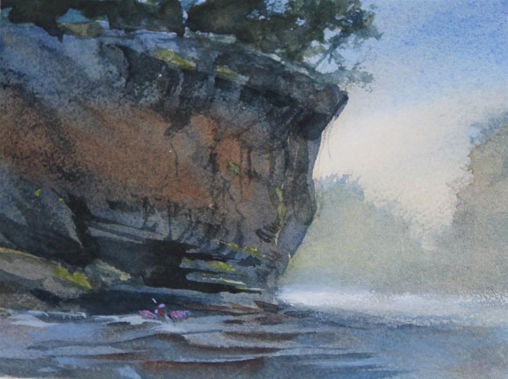 """Mulberry Kayaker"" original fine art by Cedar Kindy"