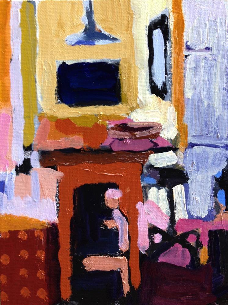 """Yellow Kitchen III"" original fine art by Pamela Hoffmeister"